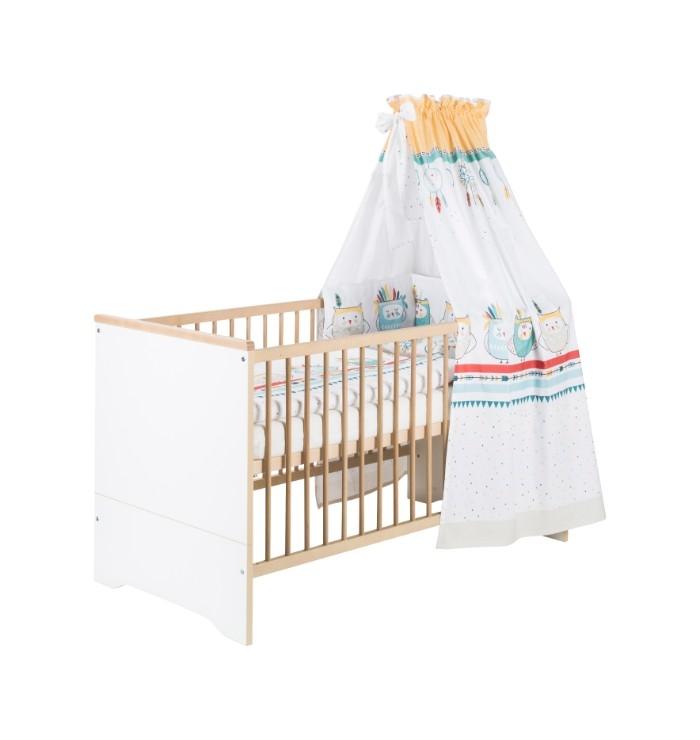 Lit bébé évolutif 70 x 140 cm (sans kit de transformation) Schardt avec textiles vendus séparément