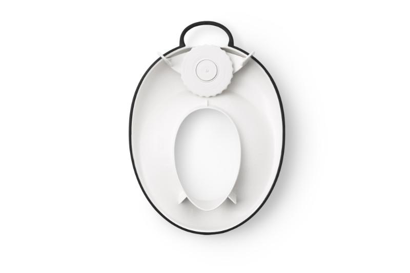 educteur de Toilette BABYBJORN Blanc Noir a l'envers Babybjorn BamBinou