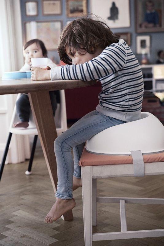 Réhausseur de chaise Blanc enfant Babyjorn Bambinou