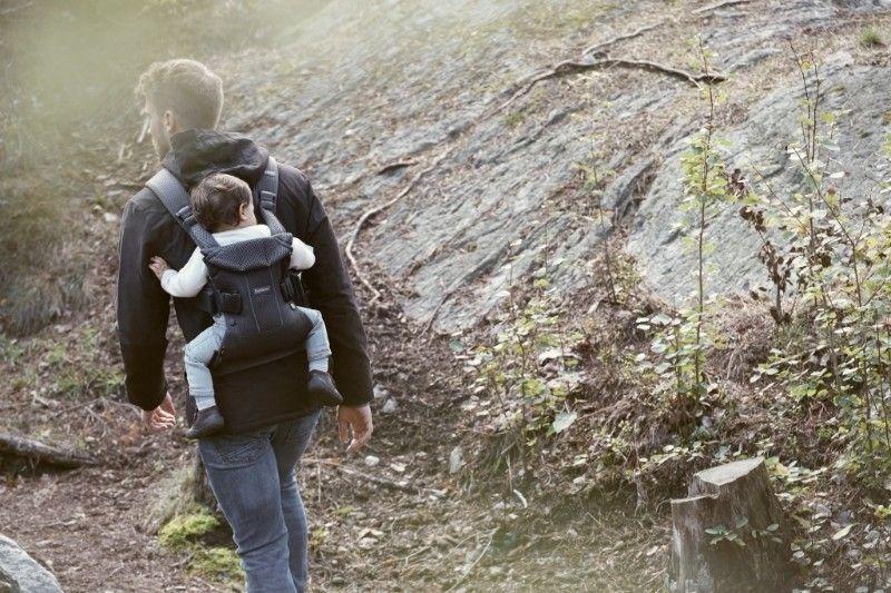 Porte-bébé One air anthracite mesh modèle 2018 portage sur le dos Babybjorn Bambinou
