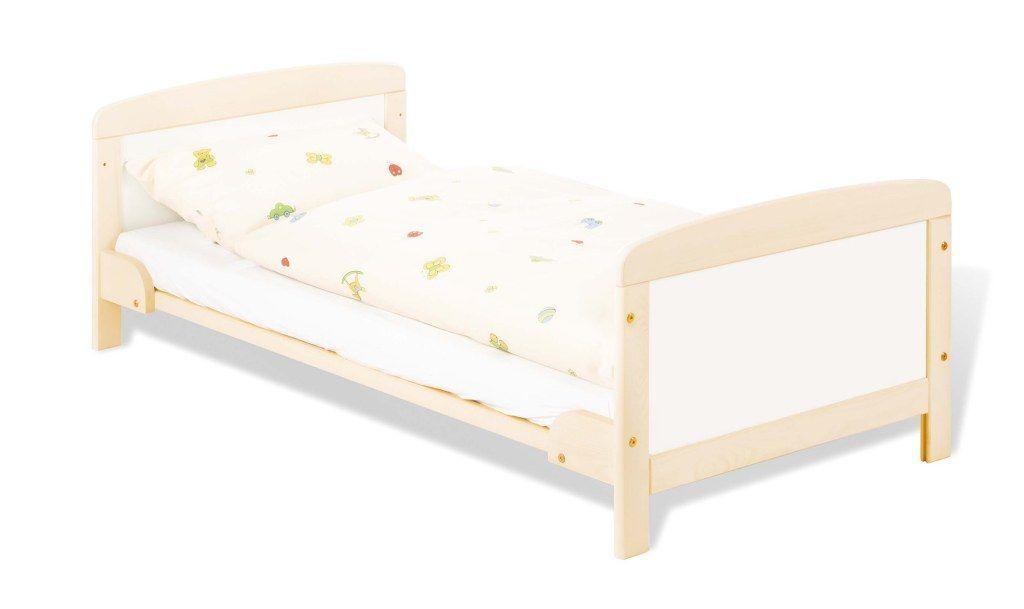 Lit bebé évolutif Florian 70 x 140, matelas Luna Up et drap housse blanc Pinolino Évolutif