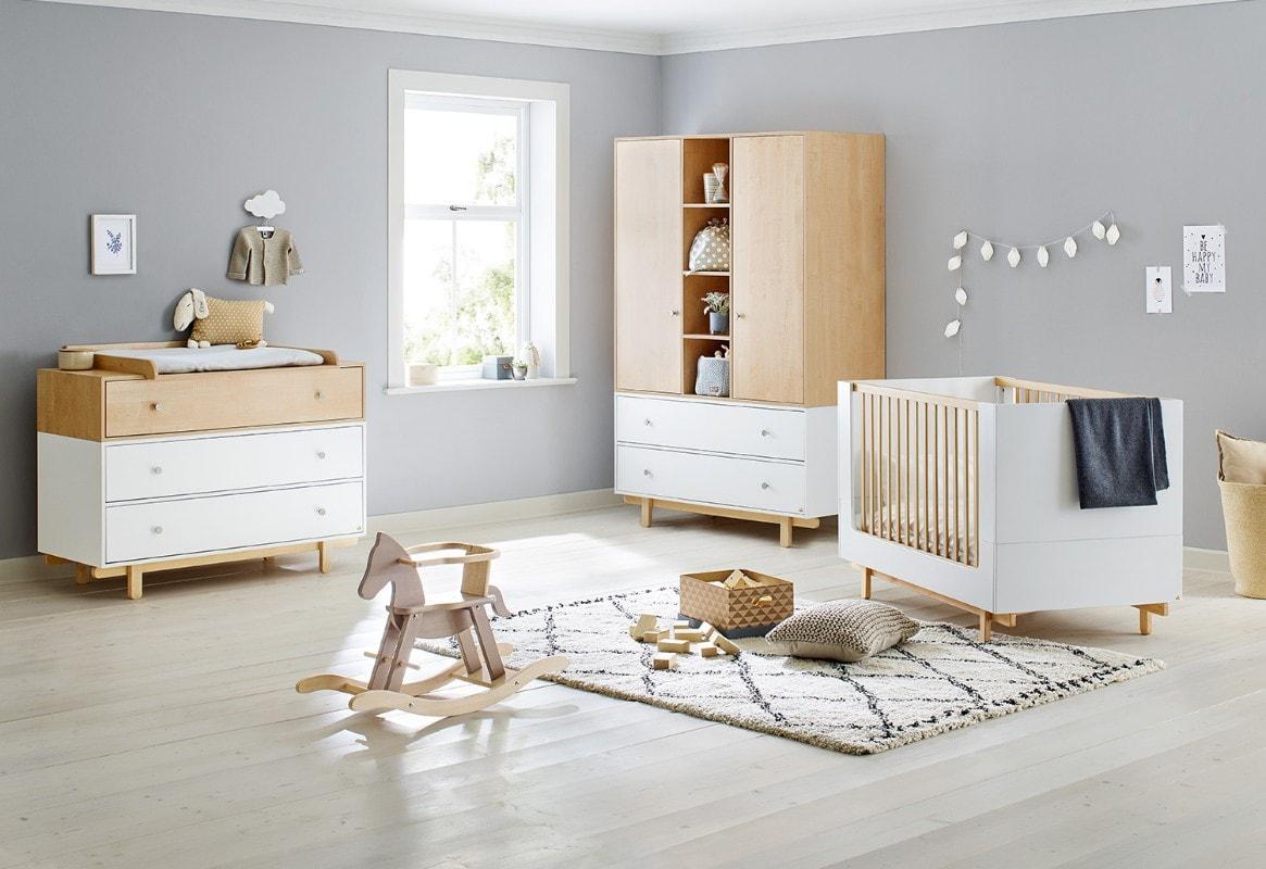 Chambre bébé Boks Lit, commode, armoire Pinolino Bambinou