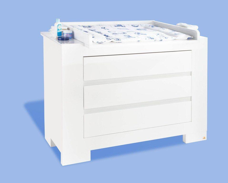 Chambre bébé Sky blanc: Lit, commode, armoire Pinolino BamBinou.com