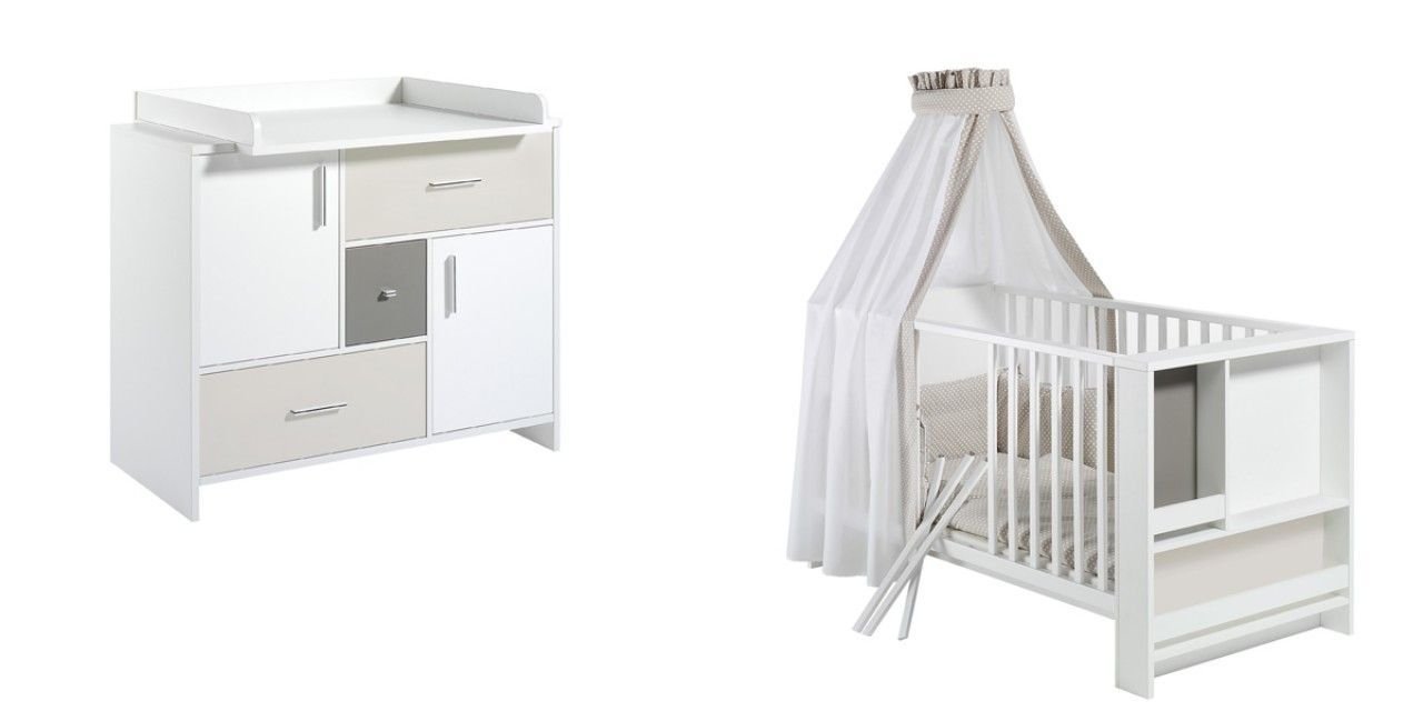 Chambre Candy : lit kit-transformation commode
