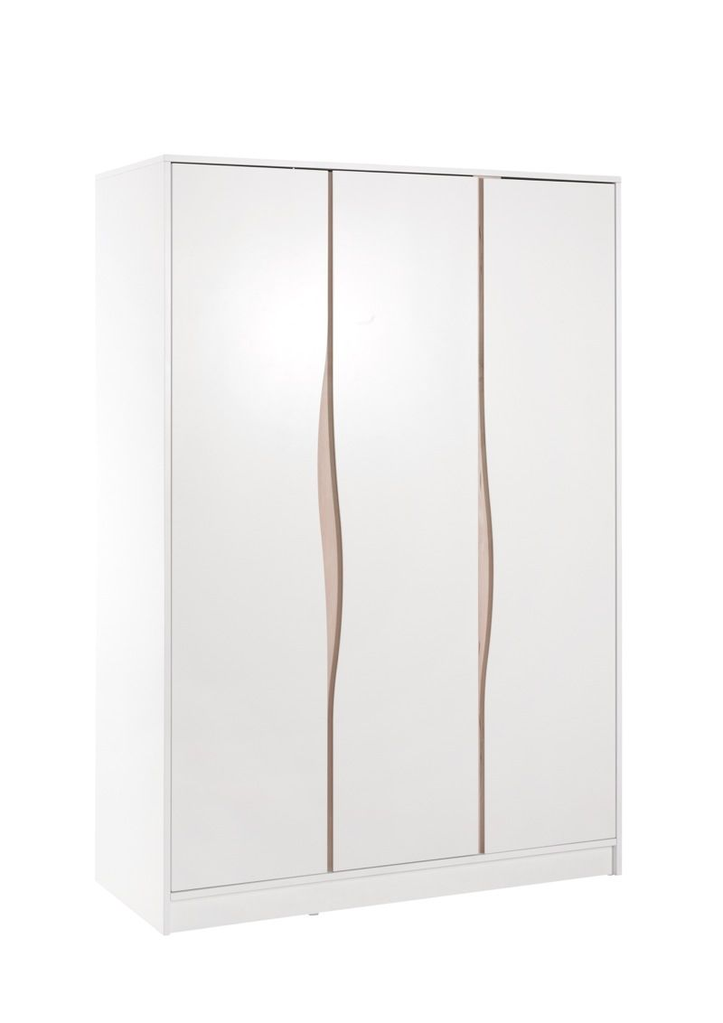 Armoire WAVE 3 portes Blanche Naturelle Geuther