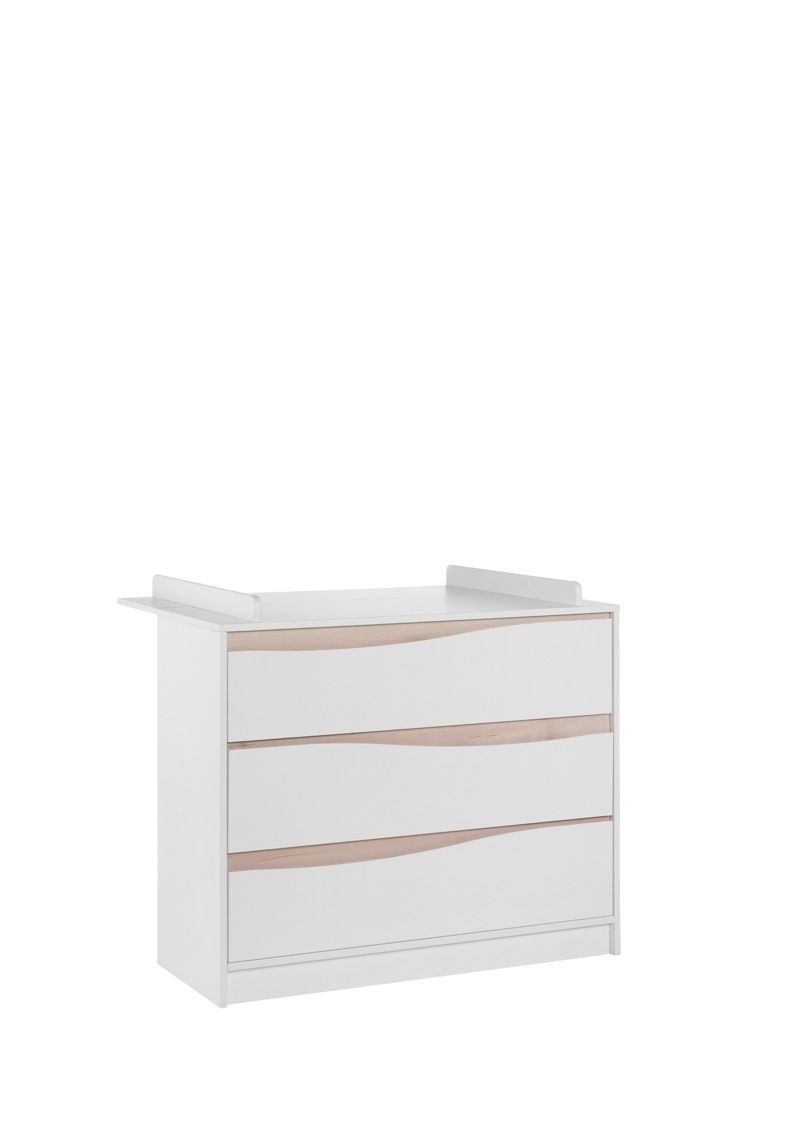 Chambre Wave Blanc / Naturel : lit, commode Geuther commode