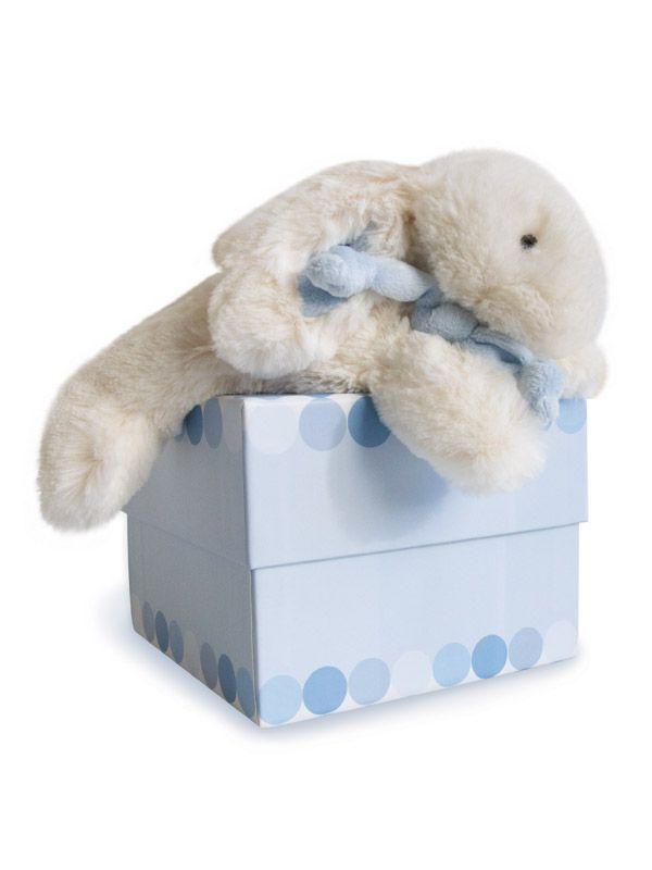 Doudou lapin bonbon bleu 20 cm - Doudou et Compagnie - Bambinou
