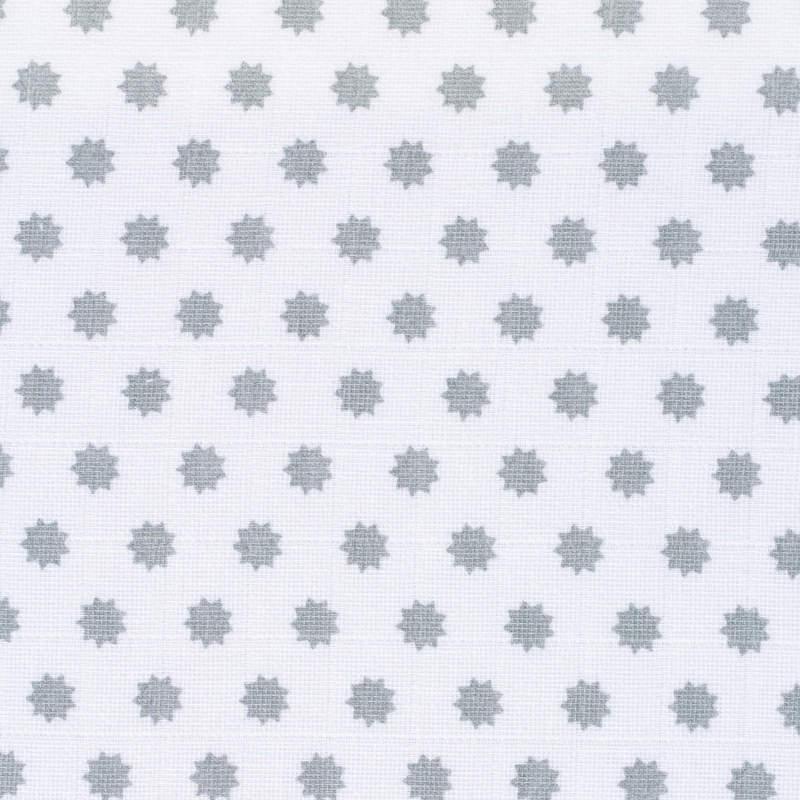 Lot 3 langes Little Chums Étoiles blanc 85 x 85 cm motifs points Lassig-Bambinou