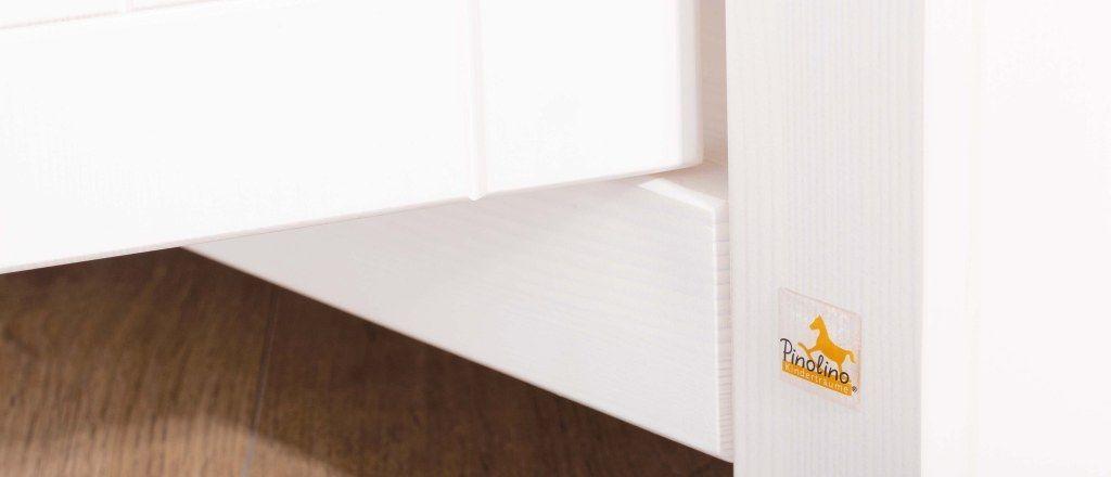 Chambre bébé Nina blanc: Lit, commode, armoire Pinolino Placard