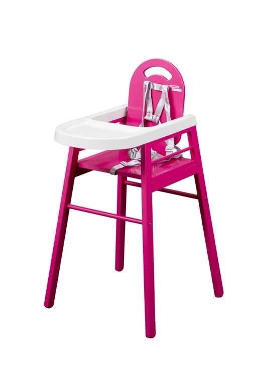 173 chaise haute lili laque fushia Combelle BamBinou