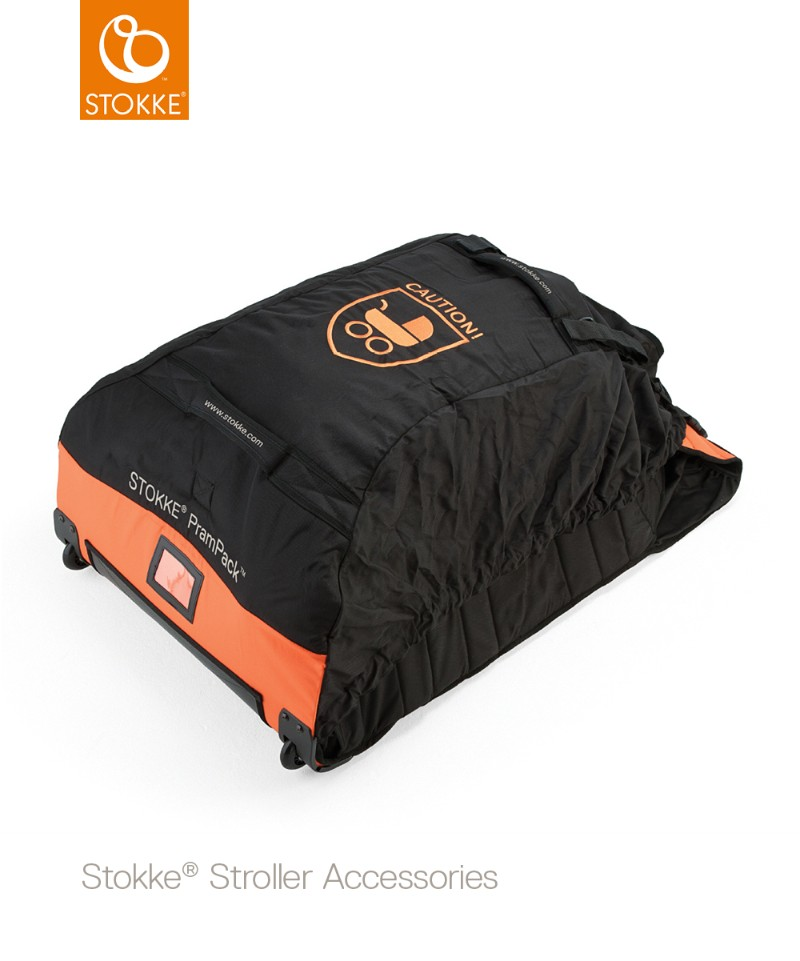 Sac de transport PramPack toutes poussettes Orange et Noir