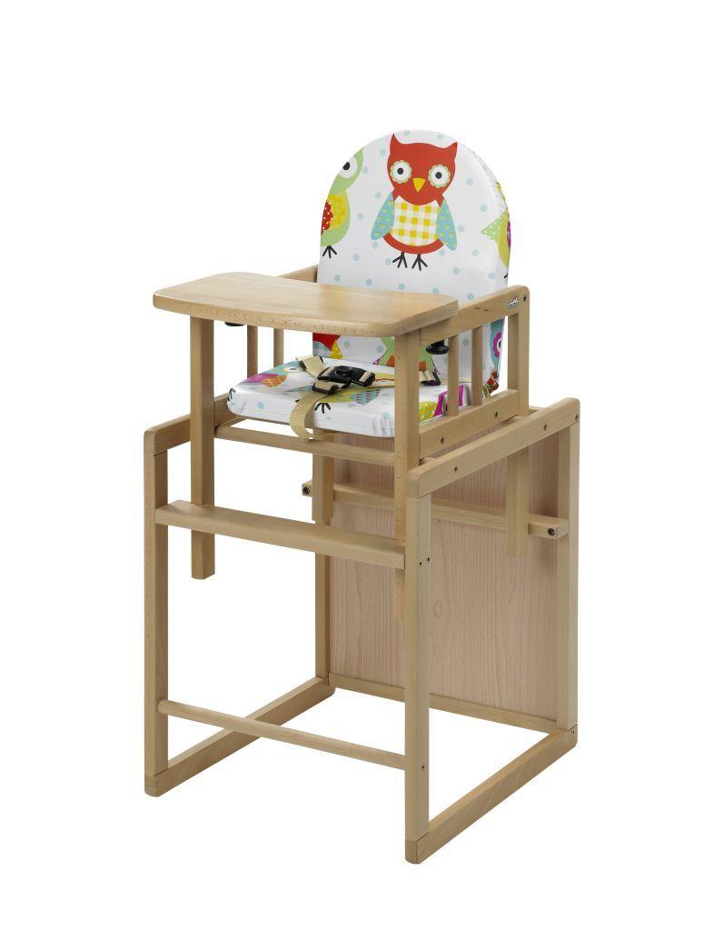 Chaise haute bureau Nico naturel Chouette Geuther BamBinou