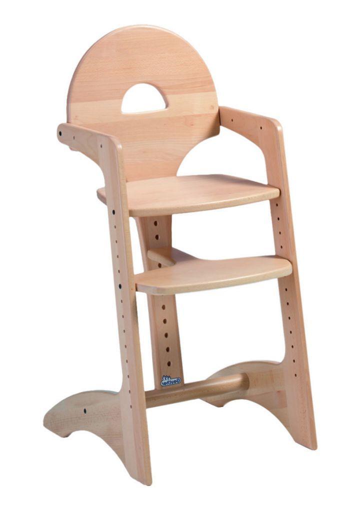 Chaise haute Filou en hêtre naturel