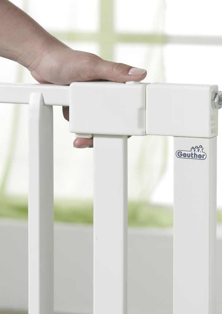 Barrière sécurité portes Vario Safe sans percer 74,5-82,5 cm Bois Blanc GEUTHER