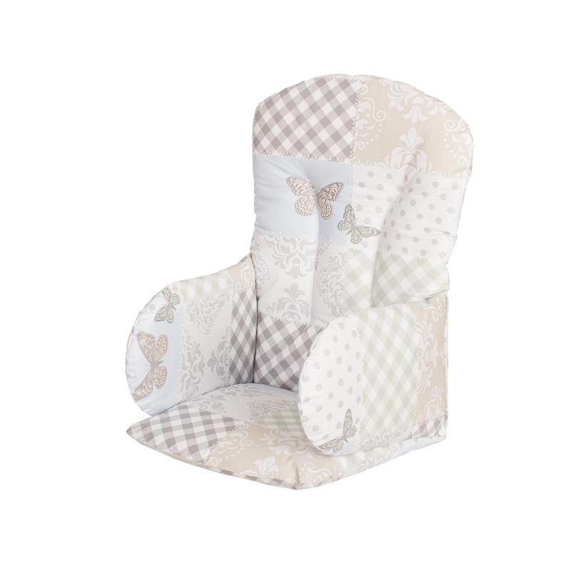 Réducteur pvc pour chaise haute patchwork papillon Geuther Bambinou