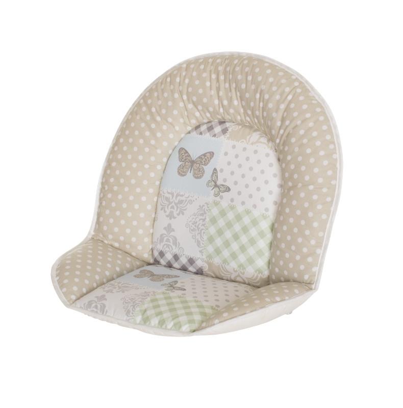 Réducteur tissus pour toutes les chaises hautes patchwork papillon Geuther Bambinou