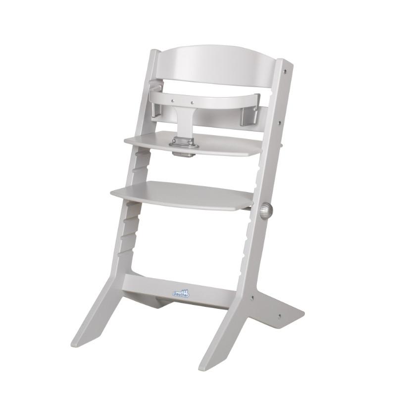 Chaise haute évolutive syt grise claire Geuther Bambinou