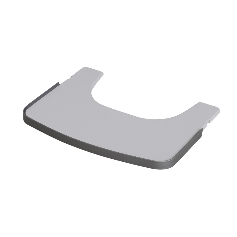Tablette chaise haute tamino grise claire Geuther Bambinou