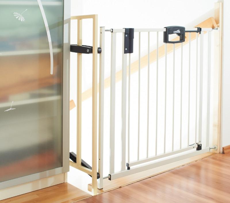 Barrière de sécurité Escalier Easylock plus 84,5 - 92,5 cm sans percer Geuther Bambinou