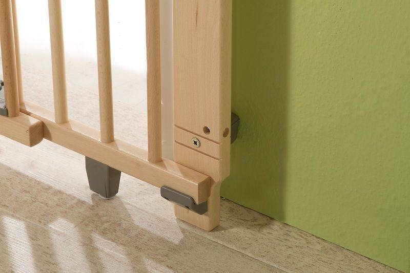 Barrière de sécurité plus pour porte 86-121 cm 93,5-133 cm en bois naturel bas Geuther Bambinou
