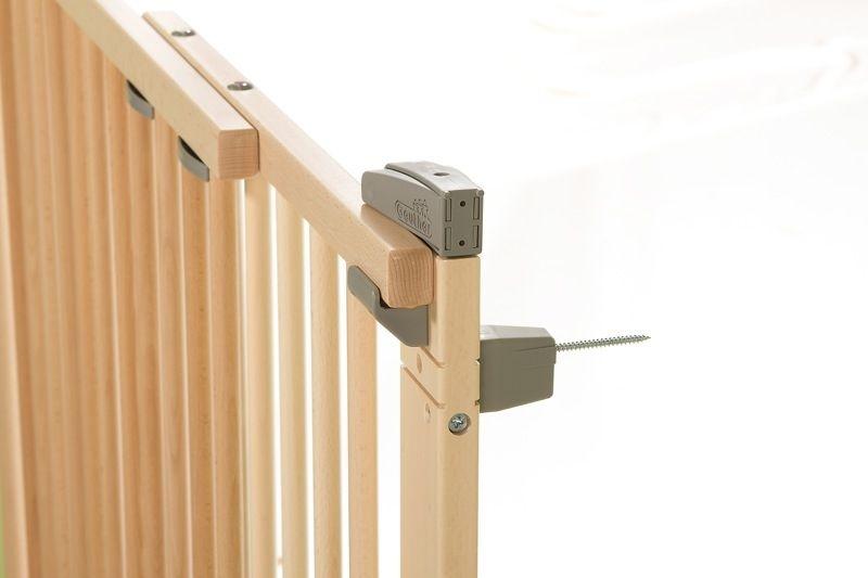 Barrière de sécurité plus pour porte 86-121 cm 93,5-133 cm en bois naturel vis Geuther Bambinou