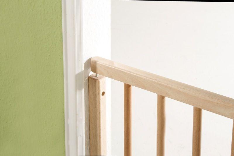 Barrière de sécurité plus pour porte 86-121 cm 93,5-133 cm en bois naturel côté Geuther Bambinou