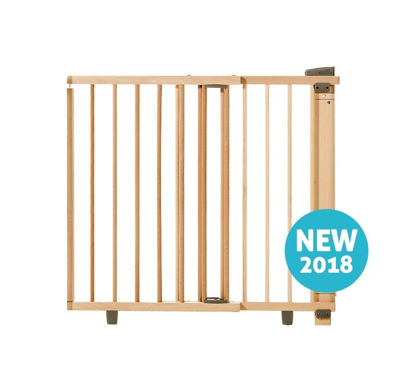 Barrière de sécurité plus pour porte 86-121 cm 93,5-133 cm en bois naturel Geuther Bambinou