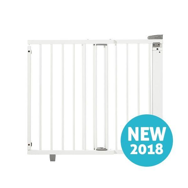 Barrière de sécurité plus pour porte 86-121 cm 93,5-133 cm en bois blanc Geuther