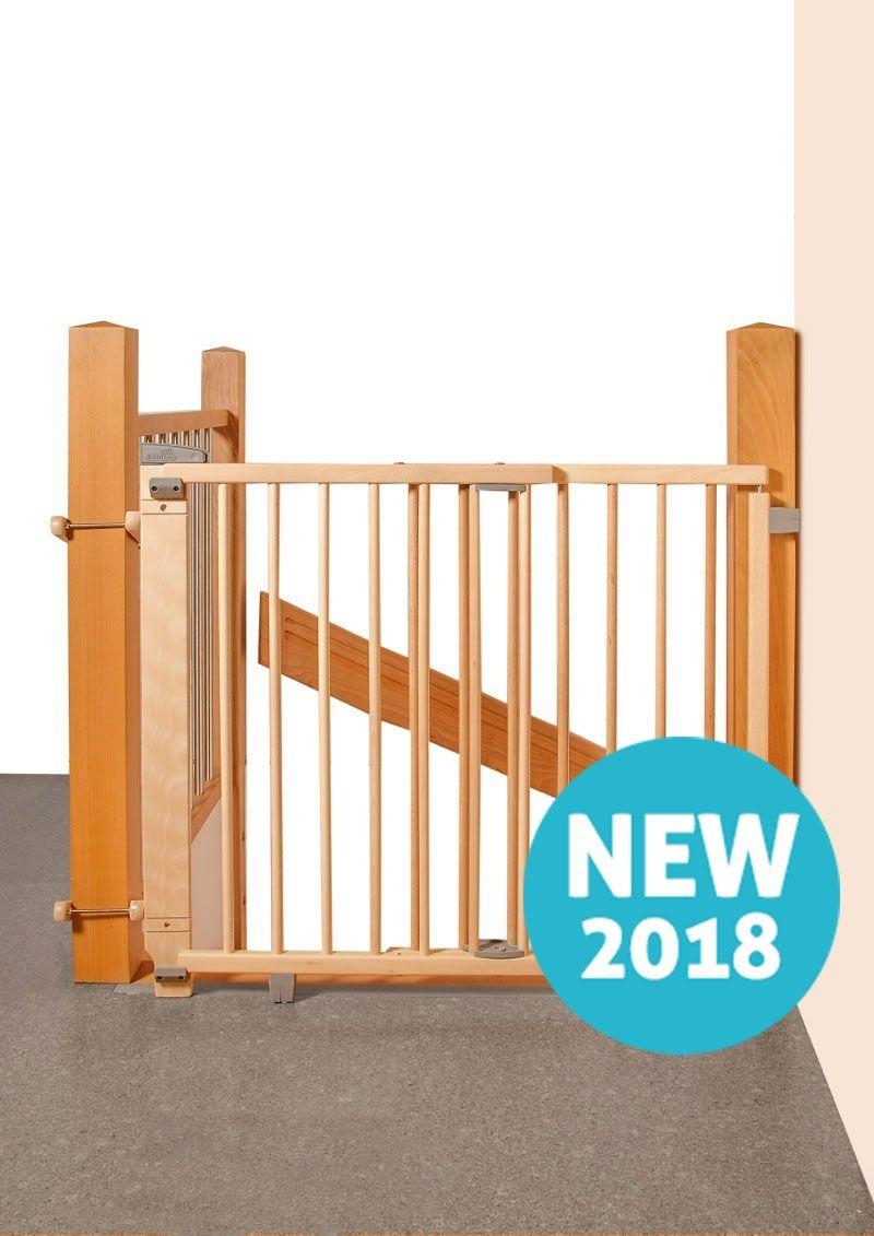 Barrière de sécurité plus pour escalier 67-107 cm naturel Geuther Bambinou.