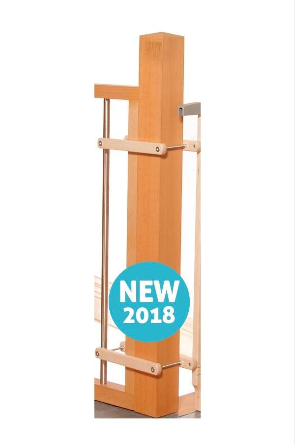 Kit escalier plus pour barrière de sécurité plus en bois naturel Geuther Bambinou