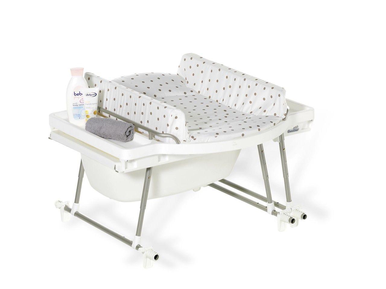 Combiné baignoire et table à langer Aqualino avec matelas Geuther BamBinou