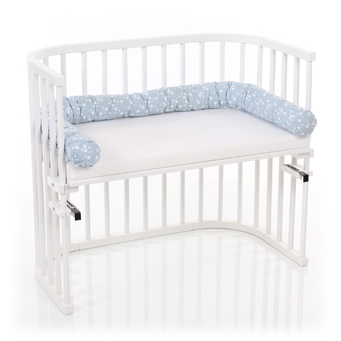 Tour de lit traversin pour Cododo Babybay dans le berceau contre les barreaux
