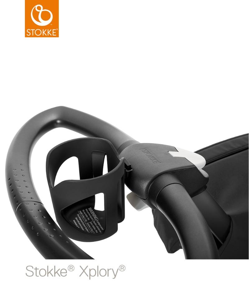 Porte-gobelet poussette Xplory V6 STOKKE sur le châssis de la poussette