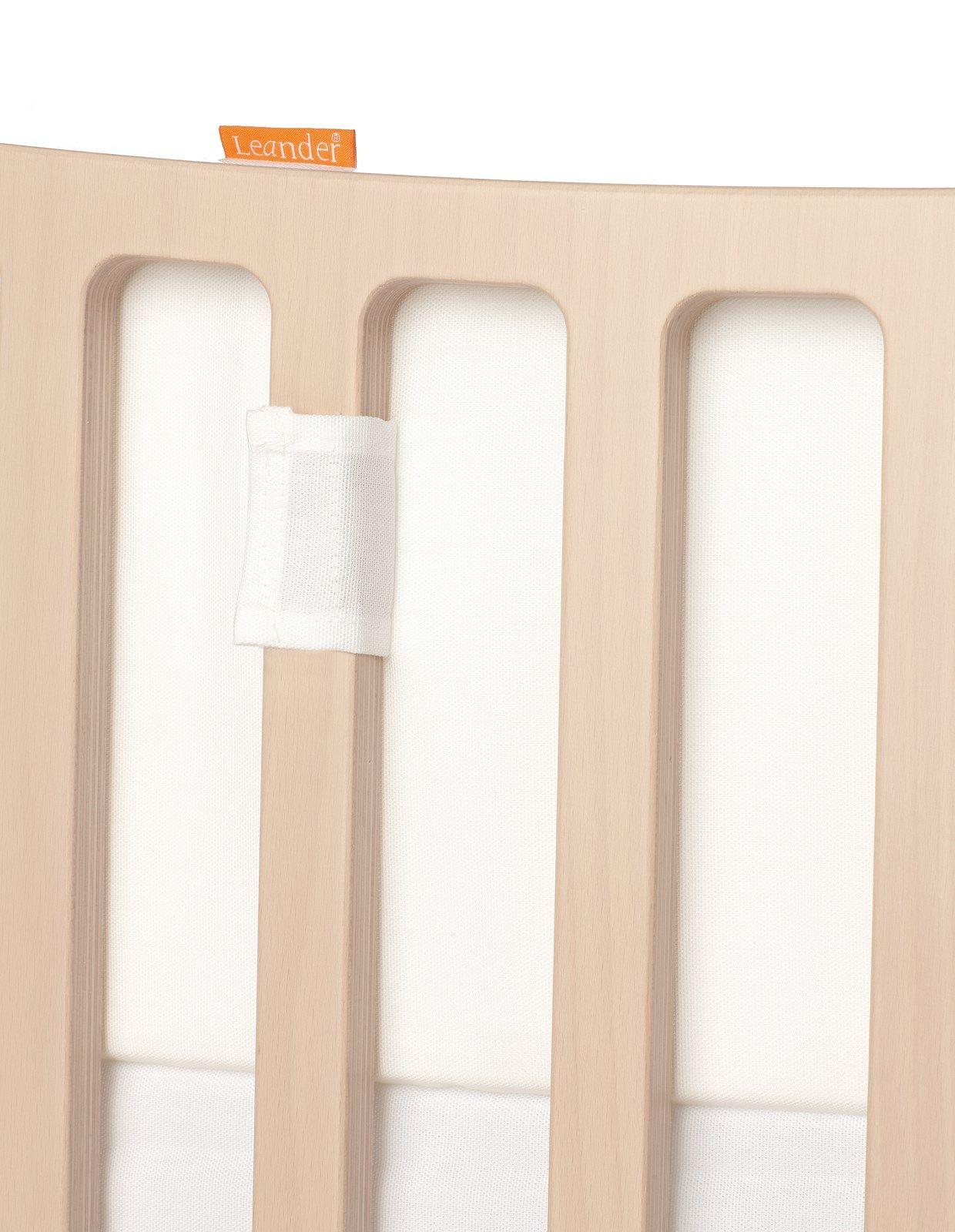 Tour de lit pour lit évolutif LEANDER blanc détail