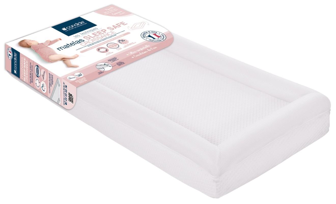 Matelas Sleep Safe Croissance déhoussable pour lit bébé 60x120 Candide