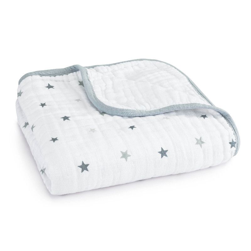couverture de reve twinkle etoiles grise 120 120 aden anais bambinou
