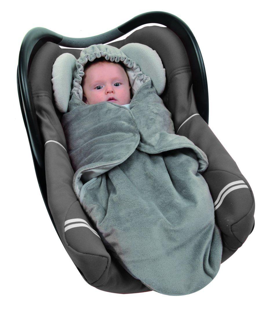 Couverture nomade bébé taupe Candide BamBinou