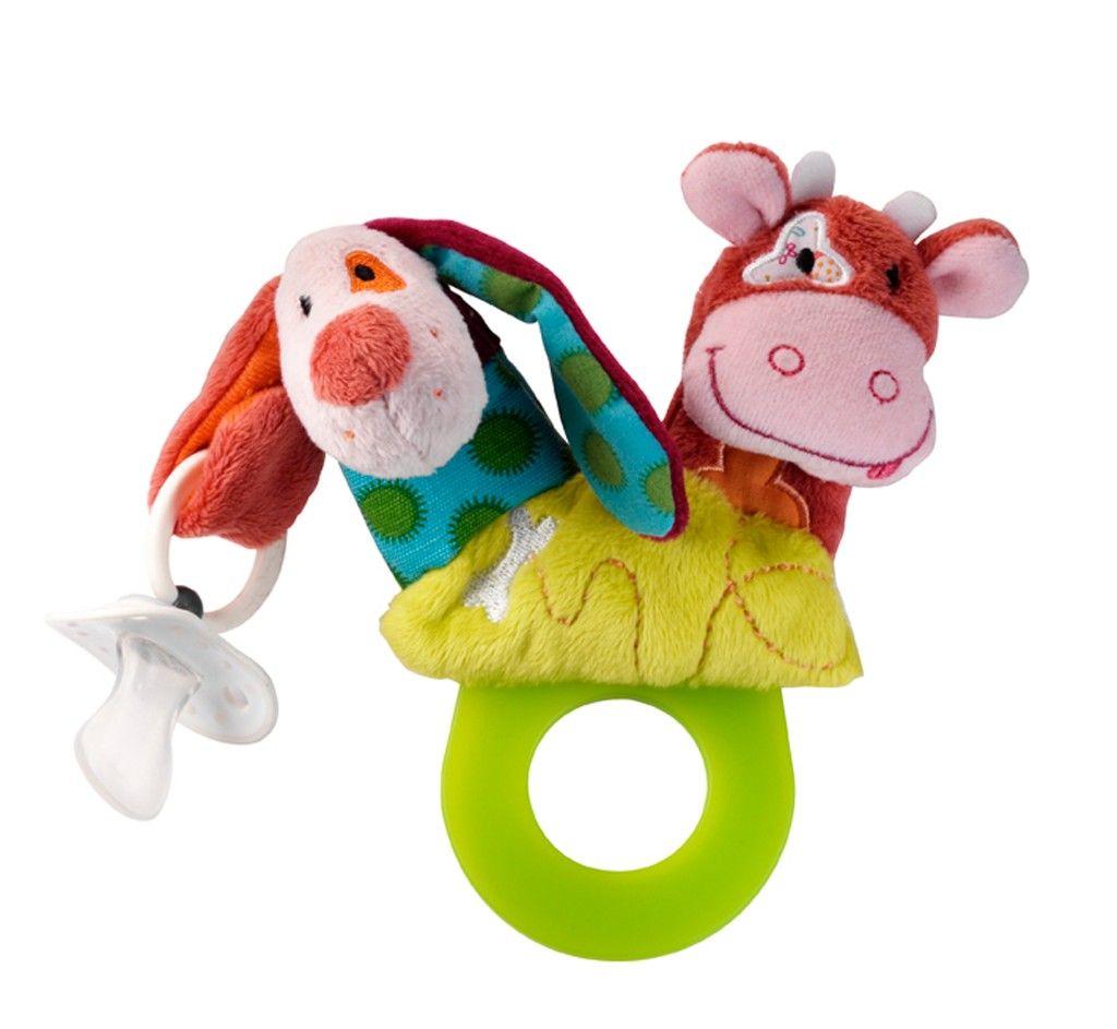 Hochet de dentition Jef le chien et Vicky la Vache - Lilliputiens - Bambinou