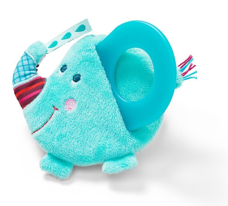 Livre avec anneau de dentition Albert l'éléphant - Lilliputiens - Bambinou