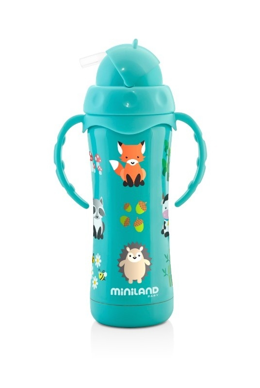 Thermos 240 ml thermokid aqua semi ouvert Miniland Bambinou
