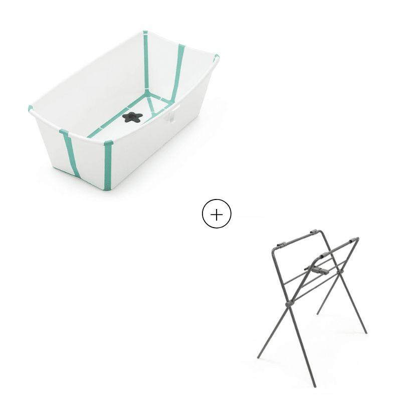 Set baignoire pliante Flexi Bath et support de baignoire Stokke Produit