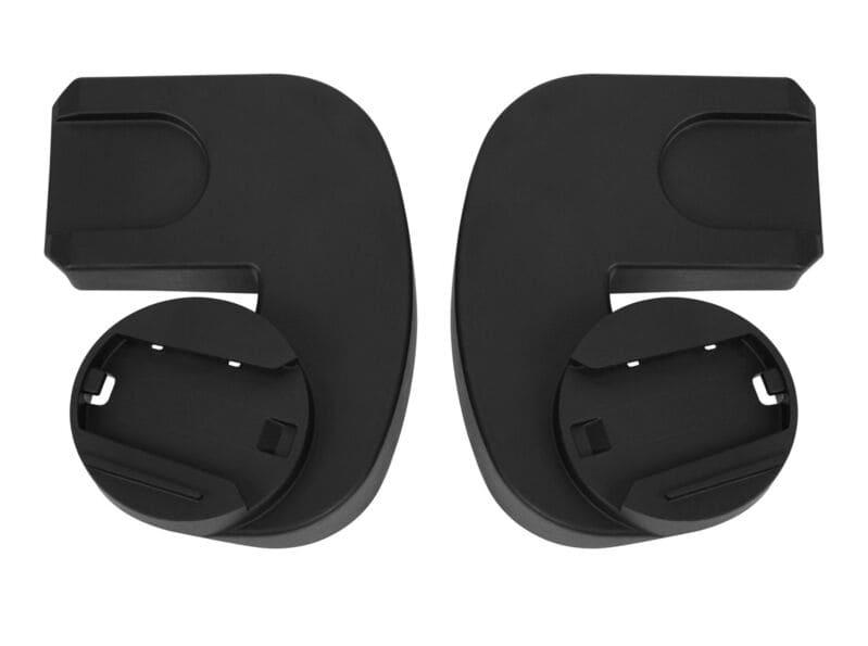 Pack poussette Melio Carbon Deep Black + siège-auto Cloud Z i-Size Cybex Adaptateurs