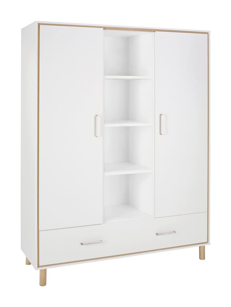Chambre Coco Blanc Lit Kit-Transfo Commode Armoire 2 portes Schardt 9