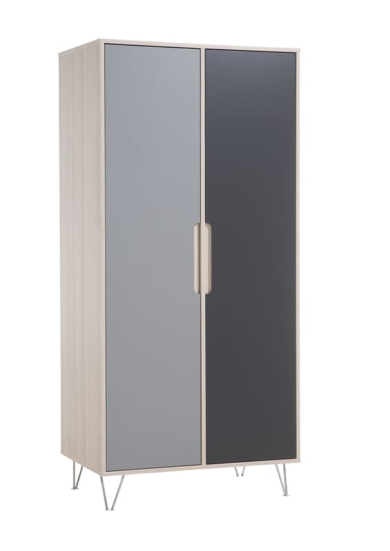 Armoire 2 portes Marit Acacia / Gris Geuther