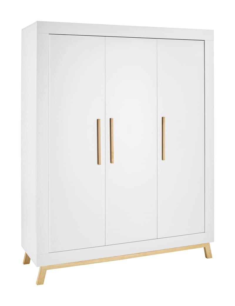 Chambre Miami Blanc Lit Kit-Transfo Commode Armoire 3 portes Schardt 9