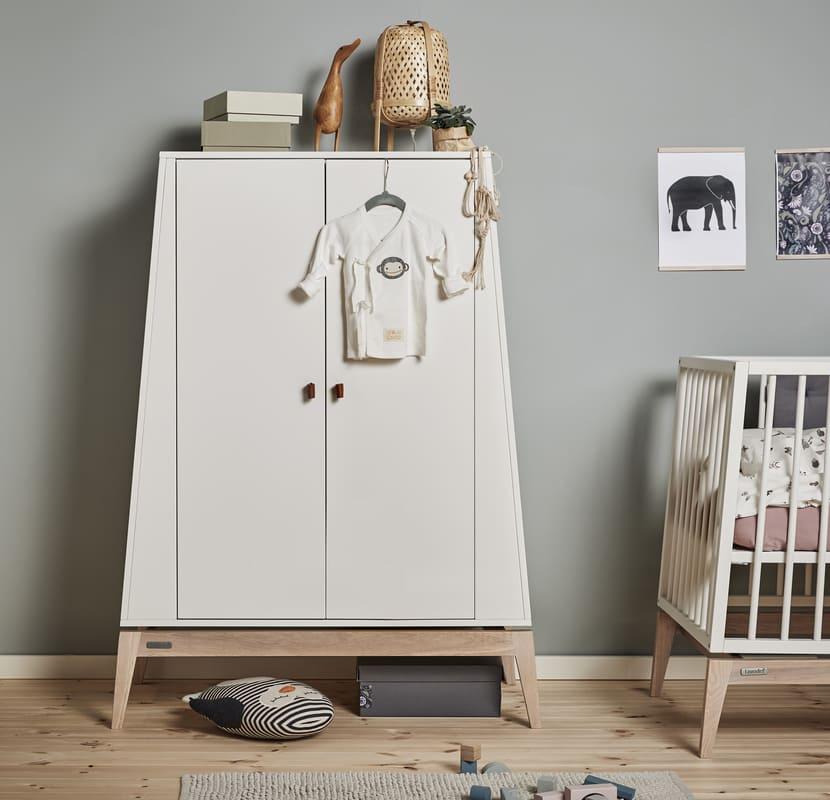 Chambre Luna Blanc : lit, commode, armoire Leander Armoire fermé