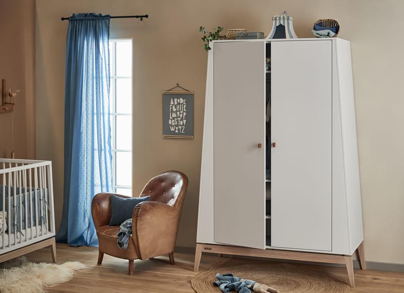 Chambre Luna Blanc : lit, commode, armoire Leander Commode Maison