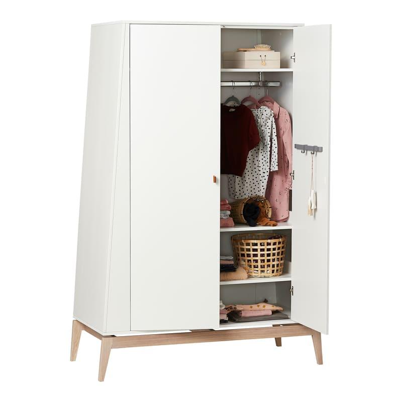 Chambre Luna Blanc : lit, commode, armoire Leander Grand Affaires