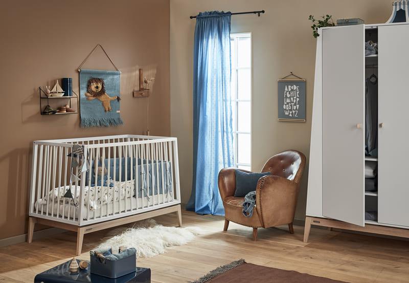 Chambre Luna Blanc : lit, commode, armoire Leander Intérieur