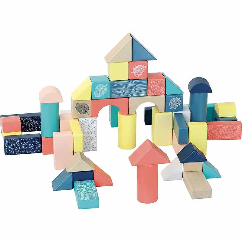 Baril 54 cubes Sous la canopée Vilac